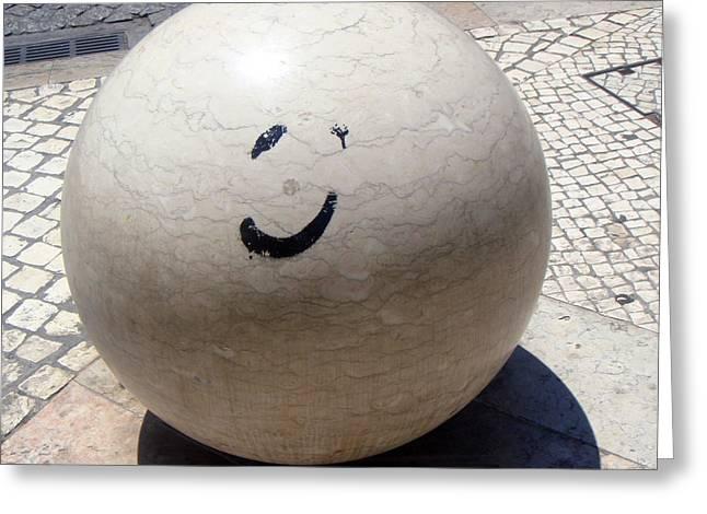 Smile Greeting Card by Roberto Alamino