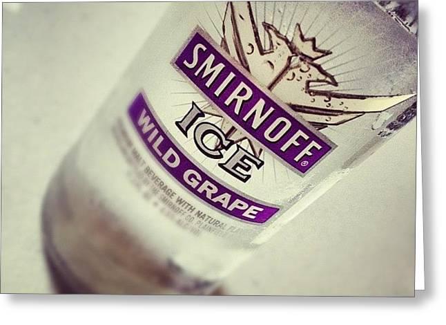 #smirnoff #vodka #friends #drink Greeting Card
