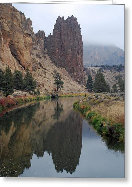 Smith Rock And Crooked River Greeting Card by Twenty Two North Photography