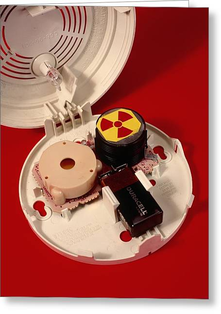 Smoke Alarm Components Greeting Card by Andrew Lambert Photography