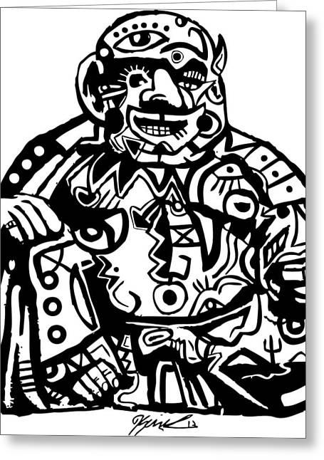 Smoke Buddah Greeting Card by Kamoni Khem