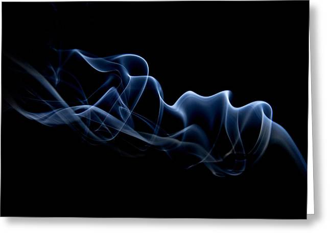 Smoke Trail Greeting Card by Dagmar Woltereck