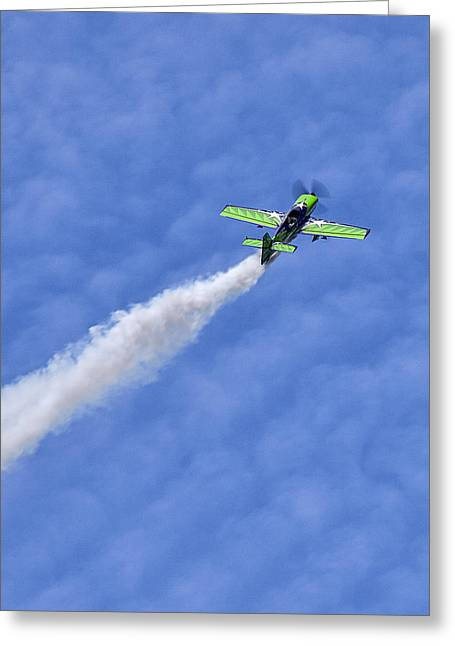 Smoke Trail Greeting Card by Sara Hudock