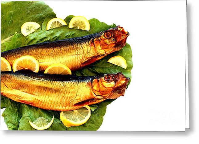 Smoked Fish Greeting Card by Soultana Koleska