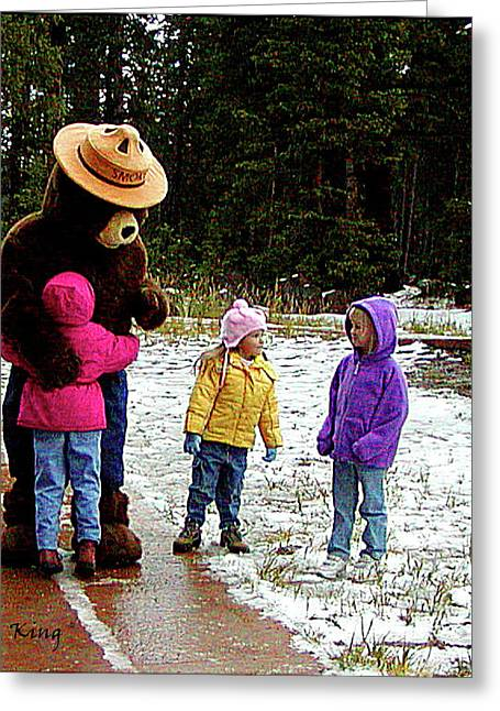 Greeting Card featuring the photograph Smokey And The Girls by Roena King