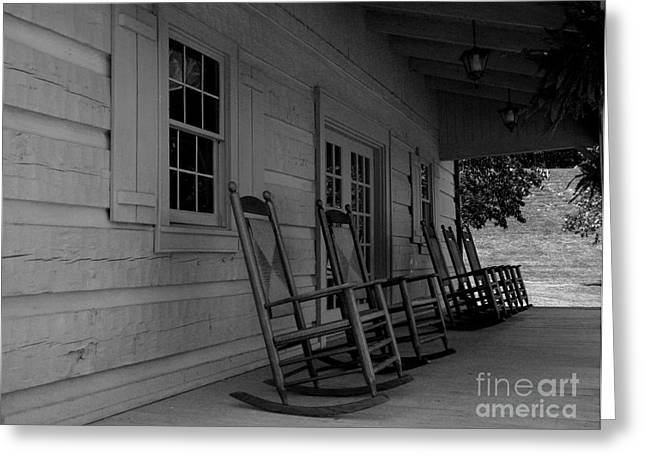 Smokey Mountain Front Porch Greeting Card by Elizabeth Coats