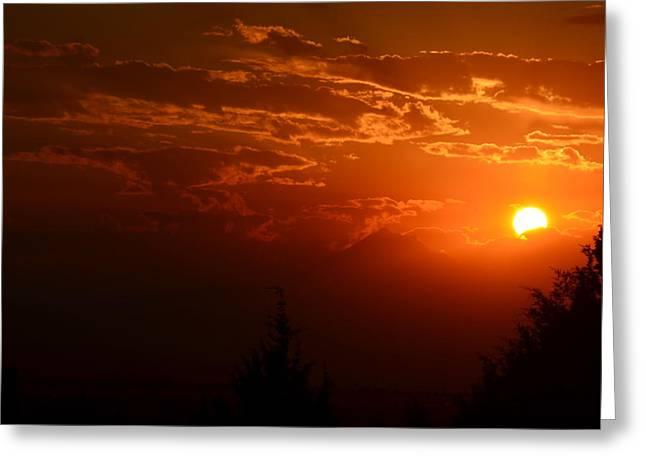 Smokey Sunset Greeting Card