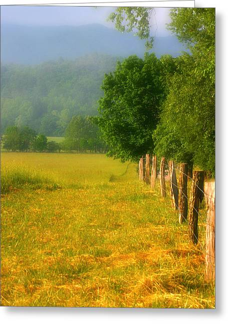 Smoky Mountains Cades Cove Greeting Card by Cindy Haggerty