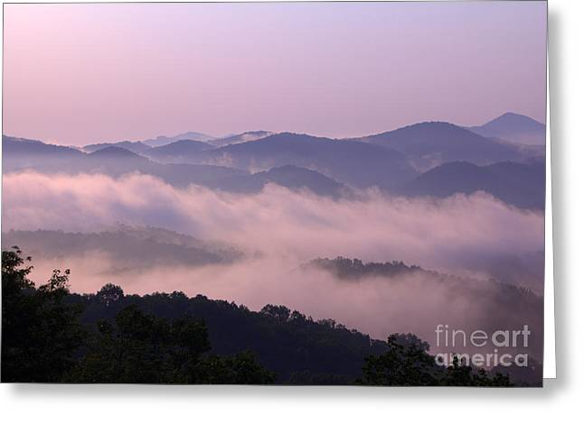 Smoky Sunrise Greeting Card