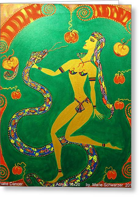 Snake  Dancer Greeting Card
