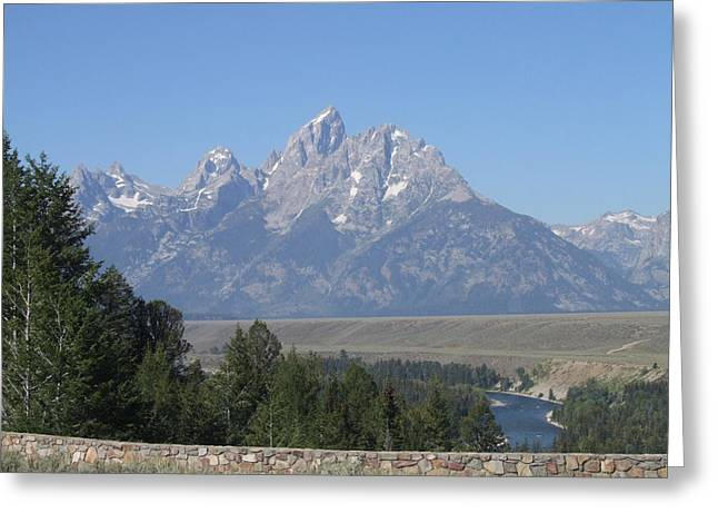 Snake River At Grand Tetons Greeting Card