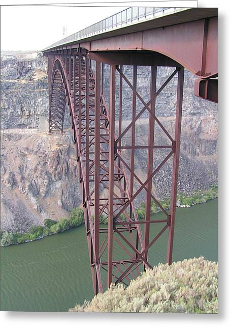 Greeting Card featuring the photograph Snake River Bridge At Twin Falls by Rand Swift
