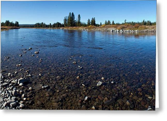 Snake River In Yellowstone Greeting Card by Twenty Two North Photography