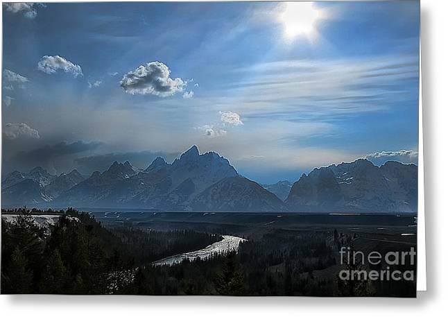 Snake River Overlook Greeting Card by Clare VanderVeen