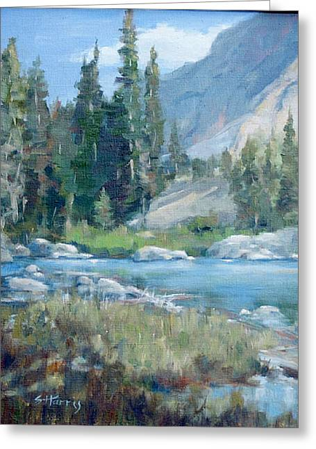 Snake River Greeting Card by Sandra Harris