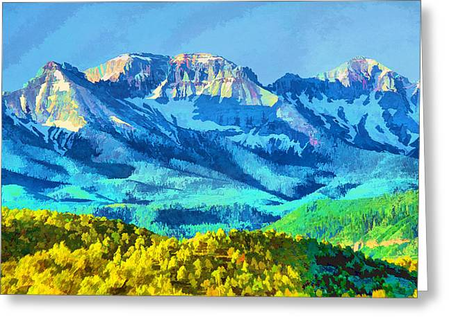 Sneffels Range Greeting Card