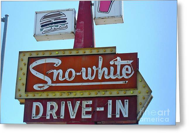 Greeting Card featuring the photograph Sno-white by Beth Saffer