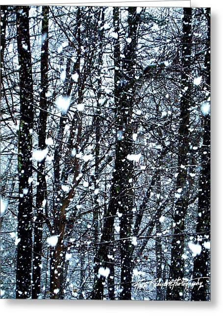 Snoball Flakes Greeting Card by Ruth Bodycott