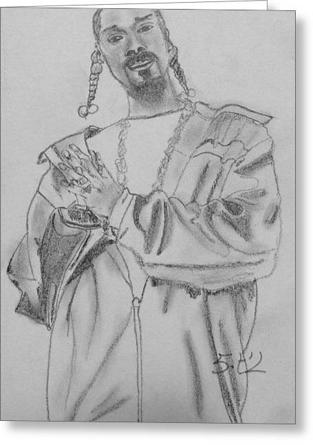 Snoop Dogg Greeting Card by Estelle BRETON-MAYA