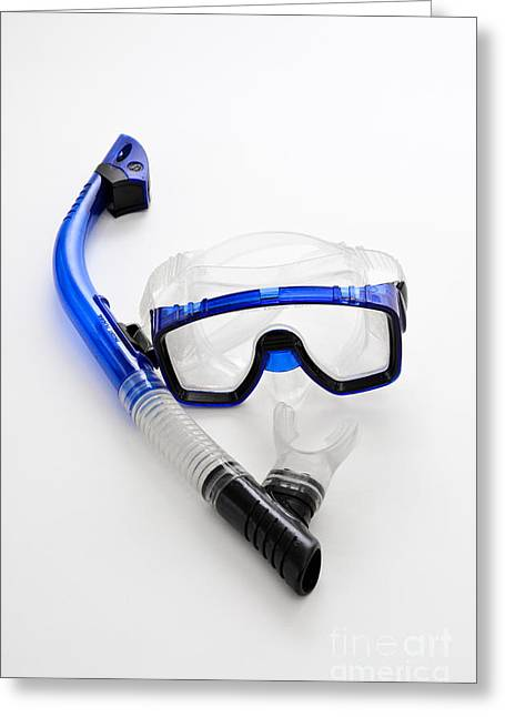 Snorkel And Mask Greeting Card by Photo Researchers