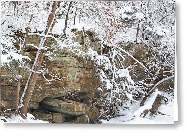 Snow And Sandstone Greeting Card
