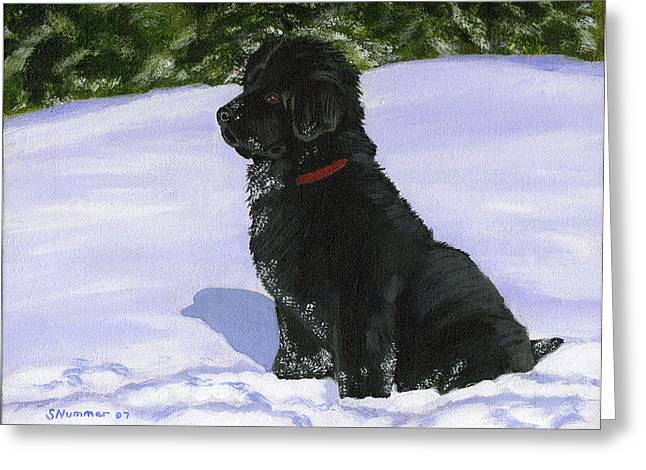 Snow Baby Greeting Card by Sharon Nummer