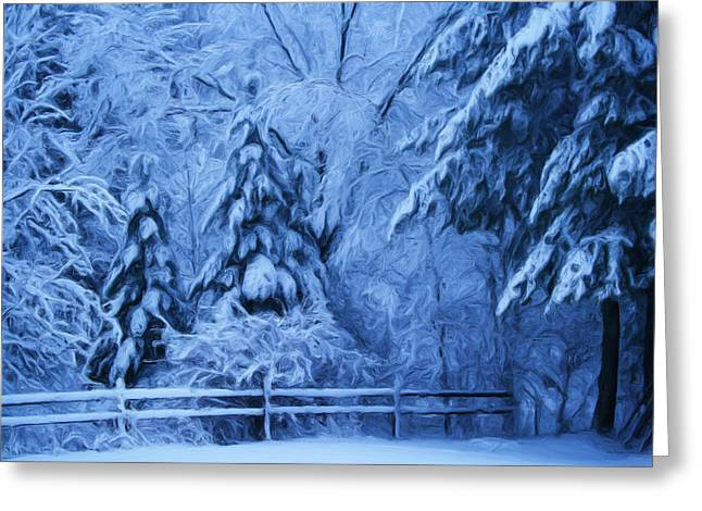 Snow Blanket At Twilight Greeting Card
