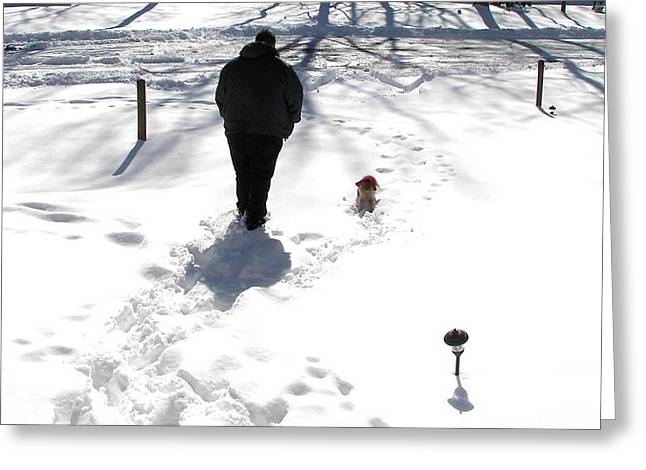 Greeting Card featuring the photograph Snow Buddies by Pamela Hyde Wilson