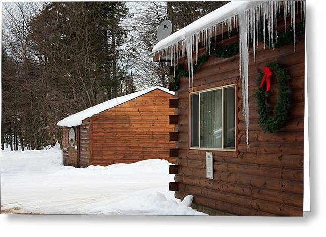 Snow Covered General Store Greeting Card by Ann Murphy