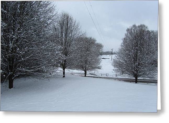 Snow Day Greeting Card by Kathy Long