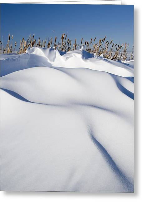 Snow Drifts On A Hill Greeting Card