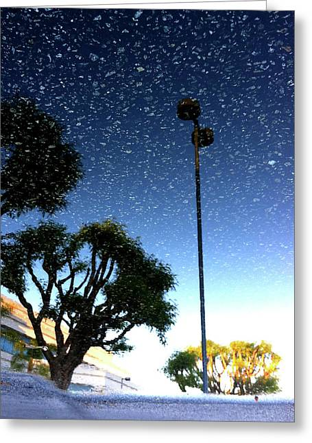 Greeting Card featuring the photograph Snow In August by Kevin Bergen