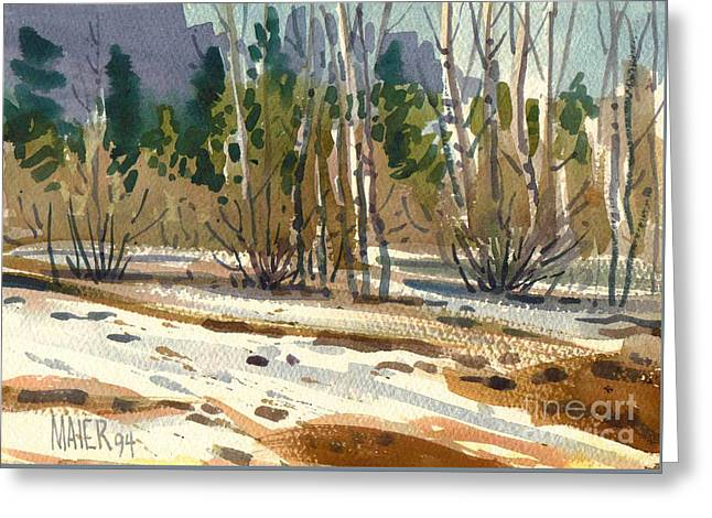 Snow Melt Greeting Card by Donald Maier