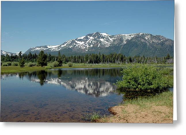 Snow Reflections Mt Tallac Greeting Card