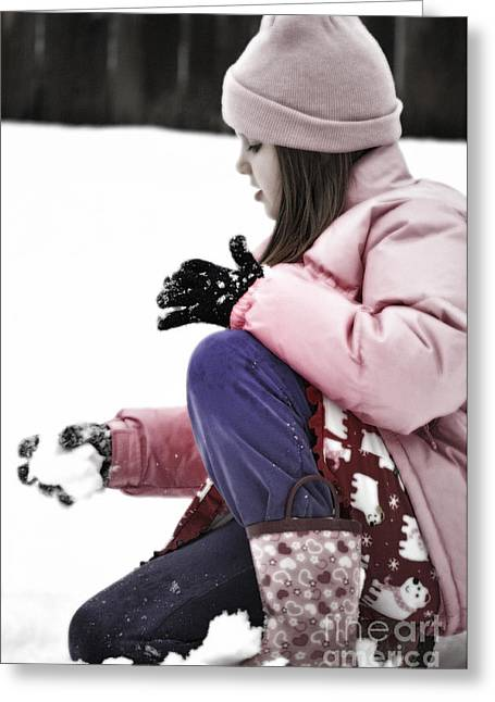 Snow Studies Greeting Card by Gwyn Newcombe
