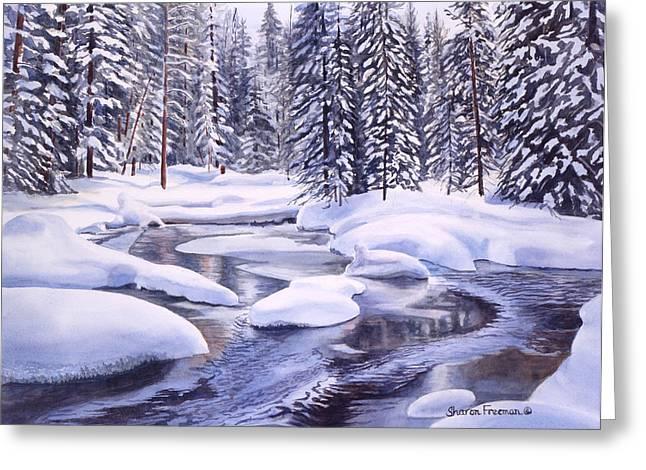 Snowbound Greeting Card by Sharon Freeman