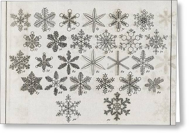 Snowflake Research, 18th Century Greeting Card