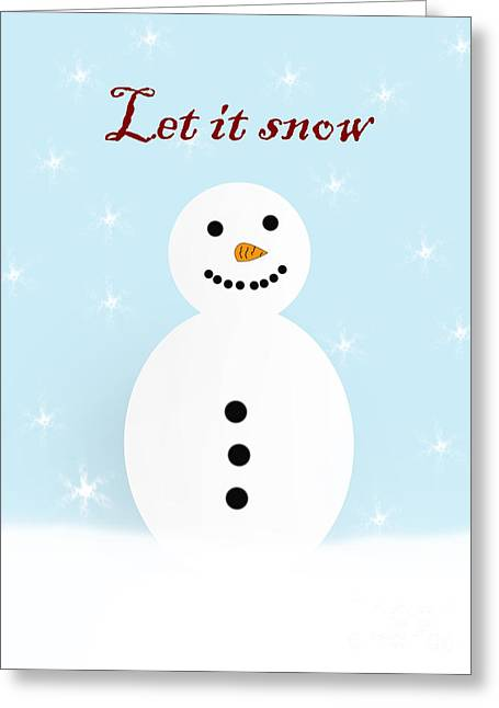 Snowman Greeting Card by Steev Stamford