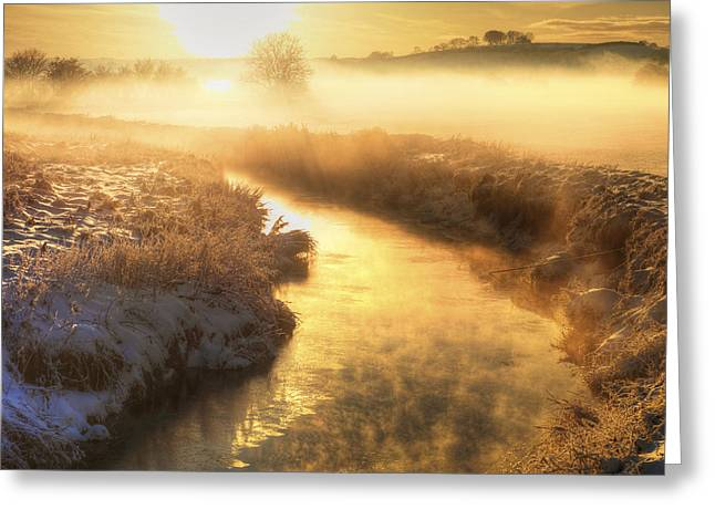 Snowscape, County Antrim Greeting Card by Chris Hill