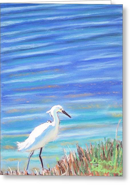 Snowy Egret At Sanibel Island Greeting Card