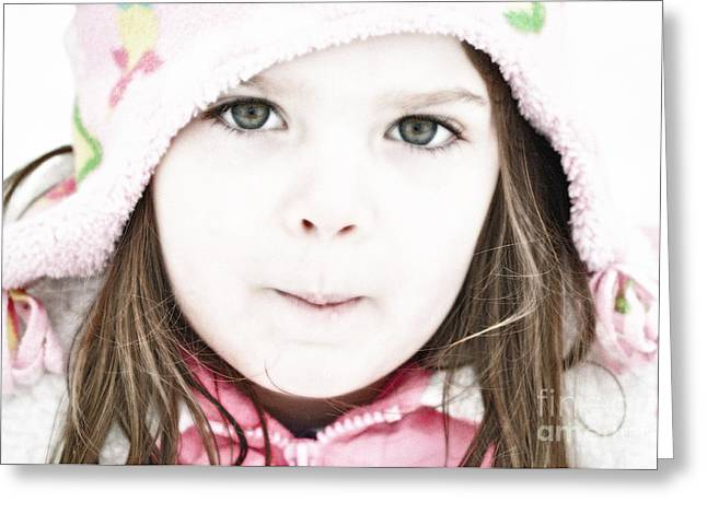 Snowy Innocence Greeting Card by Gwyn Newcombe