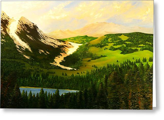 Snowy Mountain Greeting Card by Nelson