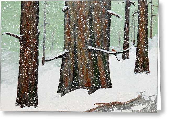 Snowy Redwood Greeting Card