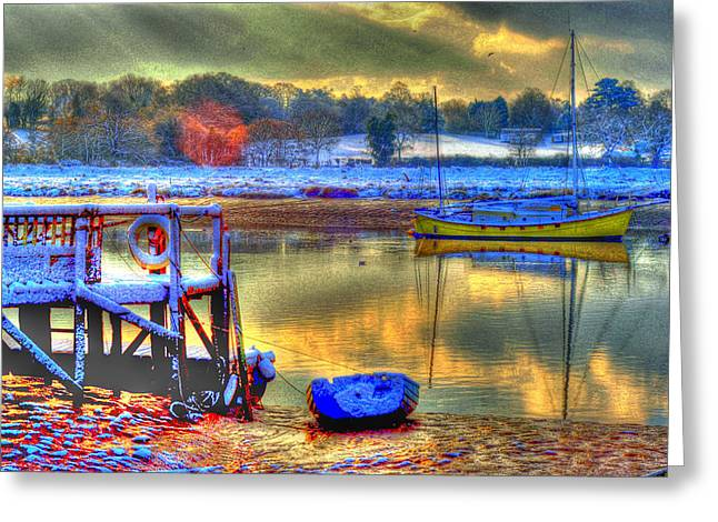 Snowy River Sunset Greeting Card by Jane James
