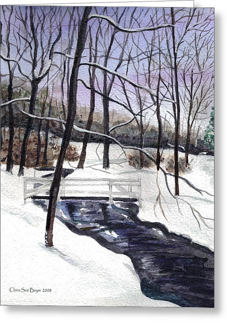 Snowy Shawnee Stream Greeting Card