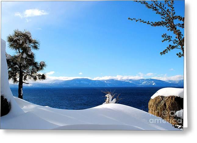 Snowy Tahoe Greeting Card by Sean McGuire