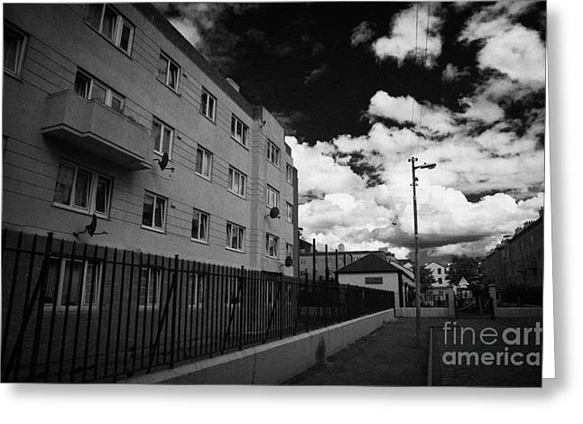 Social Housing Development Pearse House In Dublins Lower Sandwith Street Inner City Dublin Greeting Card by Joe Fox