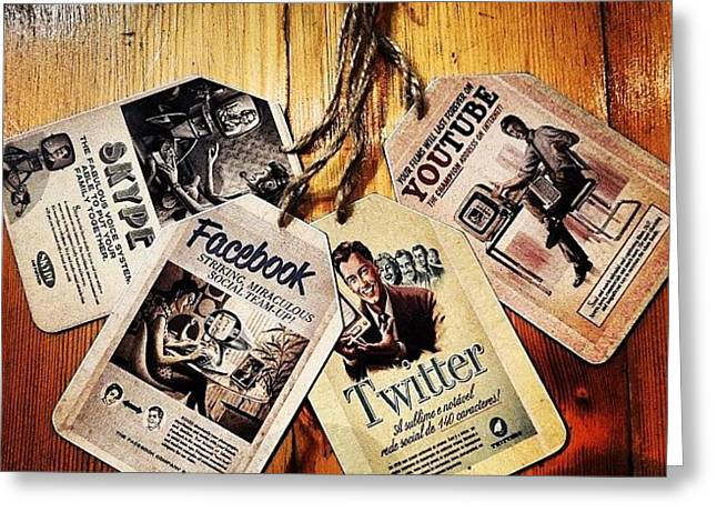 #social #life #skype #youtube #facebook Greeting Card