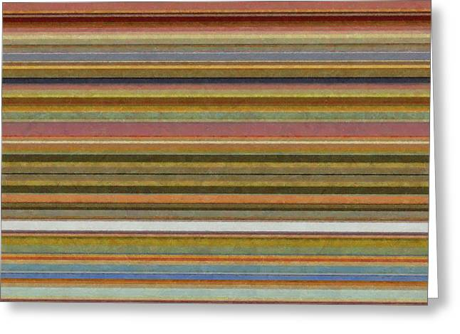 Soft Stripes L Greeting Card by Michelle Calkins