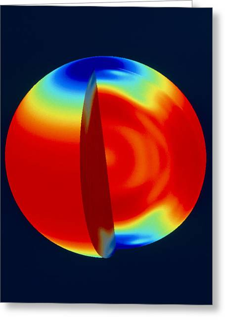 Soho Image Of Solar (sun) Rotation Rate With Depth Greeting Card by Nasa